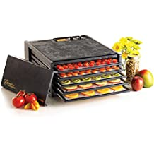Excalibur 3526TB 5-Tray Electric Food Dehydrator with Temperature Settings and 26-hour Timer Automatic Shut Off for Faster and Efficient Drying Includes Guide to Dehydration Made in USA, 5-Tray, Black