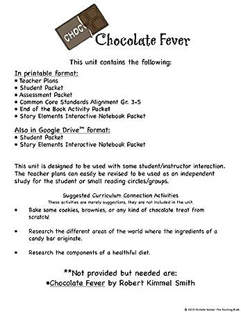 Amazon.com : Chocolate Fever Novel Study Unit CD : Teachers ...