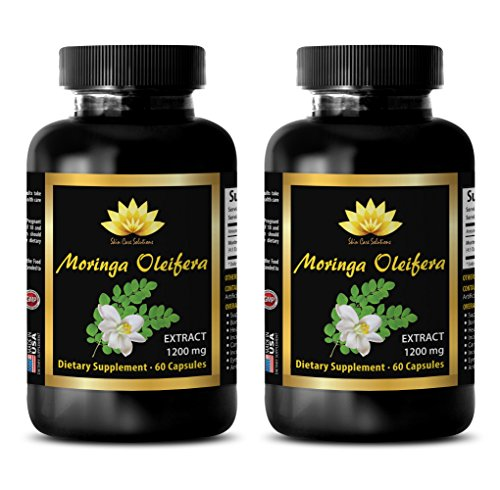 Natural weight gainer – MORINGA OLEIFERA EXTRACT – Moringa extract – 2 Bottle 120 Capsules