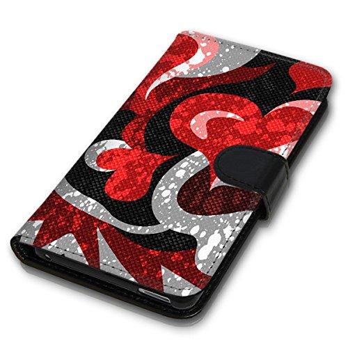 Wallet Book Style Flip Handy Tasche Case Schutz Hülle Schale Motiv Etui für Apple iPhone 4 / 4S - Design Flip MVD189