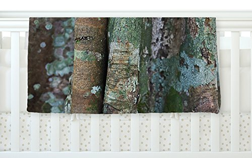 KESS InHouse Susan Sanders ''Into the Woods'' Brown Rustic Fleece Baby Blanket, 40'' x 30''