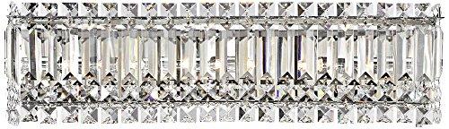 Columns Crystal Chrome Halogen 23-Inch-W Bathroom Wall Light - Light Crystal Bath Fixture