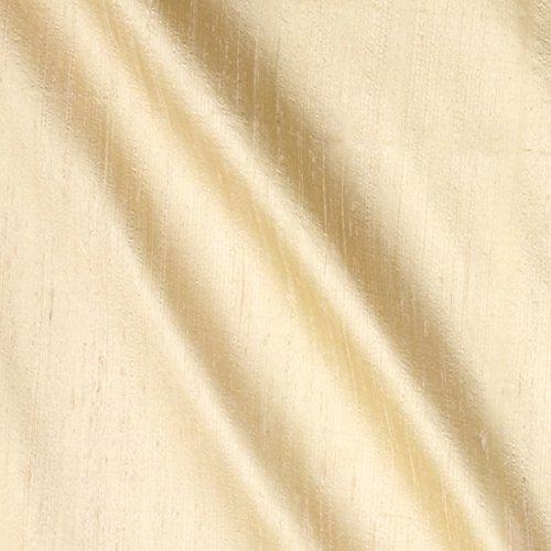 Angus International Dupioni Silk Fabric Vanilla