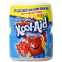 Kool-Aid Drink Mix, Sugar Sweetened Tropical Punch, 19-Ounce Container (Pack of 4) by Kool-Aid
