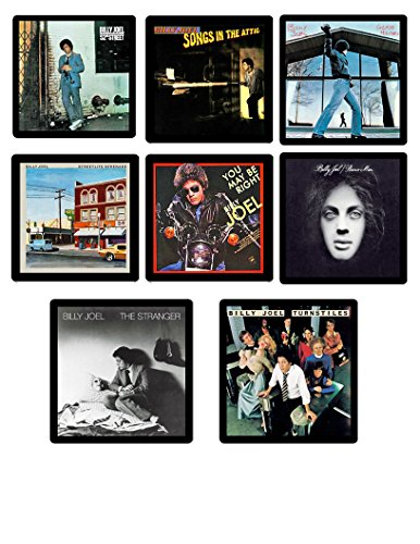 Billy Joel Collectible Coaster MEGA Gift Set - (8) Different Album Covers Reproduced Onto Soft ()