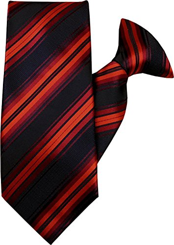 Stripe 1053 Tie Clip and JH Black On Red Tq60EH