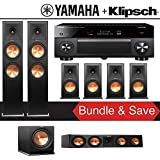 Klipsch RP-280F 7.1-Ch Reference Premiere Home Theater Speaker System with Yamaha AVENTAGE RX-A3080 9.2-Channel 4K Network A/V Receiver