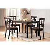 5 Pc Espresso Finish Dining Room Table Set by Acme Furniture