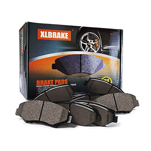 XLBRAKE Front & Rear Semi-Metallic Brake Pads For 2002 2003 2004 2005 2006 Acura RSX Type S