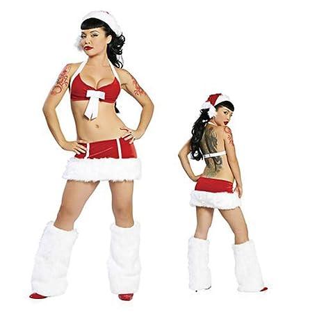 ZKDY Disfraz De Santa Claus Sexy Conjunto De Gorro De Mini Falda ...