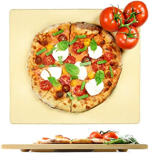 Crustina Pizza Stone Rectangular – 14 x 16 – Baking Stone, Best Pizza Stone for Oven and for Pizza on the Grill, Pizza Cooking Stone Fits All Standard Oven and BBQ