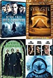 Darkness Sci-Fi Movies Life + Star Trek into & Stargate Kat Russell & Matrix Reloaded Keanu Reeves 4 Collection DVD Pack