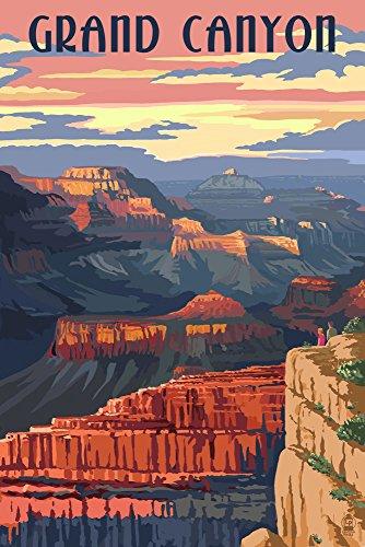 Grand Canyon National Park, Arizona - Sunset View (9x12 Art Print, Wall Decor Travel Poster)