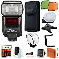 Nikon SB-5000 AF Speedlight Flash with Diffuser and SLR bracket with Battery and Charger + Accessory Bundle