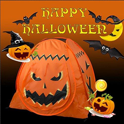 PoPoKids Pop Up Pumpkin Play Tent, Halloween Playhouse with Carrying Bag