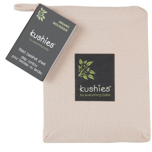 Organic Mocha Cotton (Kushies Organic Jersey Bassinet Fitted Sheet, Mocha)