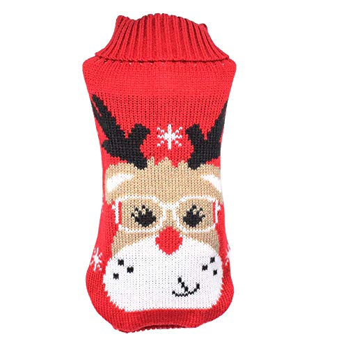 WONDERPUP Christmas Classic Green Tree Pet Dog Sweater Winter Dog Warm Clothes Festive Cat Apparel Clothes