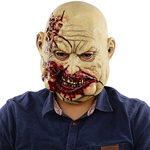 Halloween Costumes Stores In Ri (Bloody Butcher Halloween Costume Props Horror Villain Heads Adults Cosplay Latex)