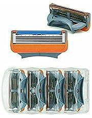 Gillette Fusion 5 lager rakblad, 16 delar ersättningsrakblad, för män med 5 anti-friktionsblad för en rakning du knappt känner