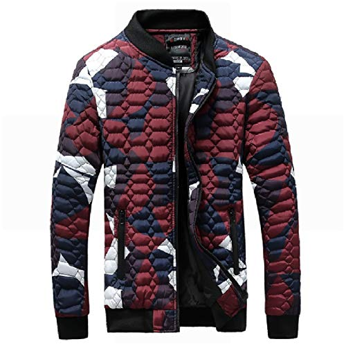 Camouflage Men's XINHEO Red Coat Jackets Size Stand Collar Down Fit Regular Zipper Plus UB8FwxB