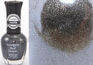Amazon Com Kleancolor Matte Finish Nail Polish Matte Charcoal