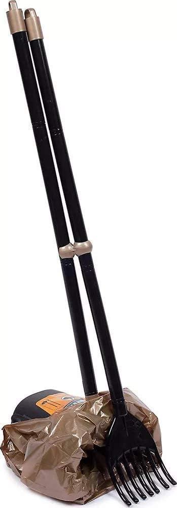 Petmate 70067 Arm & Hammer Swivel Bin & Rake Pooper Scooper, Scented Bags included, One Size, Black/Penny