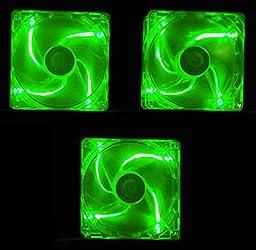 APEVIA 120mm 4pin UV Green LED Case Fan (3 Pack)