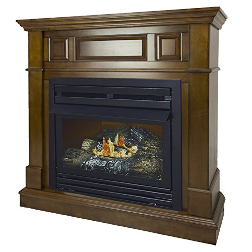 Pleasant Hearth 42 in. Liquid Propane Intermediate Heritage System 27,500 BTU Vent Free Fireplace, - 27 Btu Propane 000