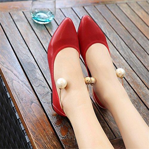 per Summer Pointed Flat Donna Comfort Toe Scarpe Scarpe Camminata da B Size Flats Microfiber Large da Casual Heel fwtnnPqO