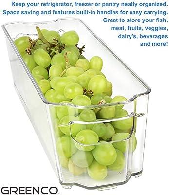 Greenco nevera y congelador estrecho de almacenamiento bin con ...