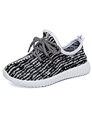 DADAWEN Girl's Boy's Breathable Light Weight Lace-Up Running Shoes Sneakers(Toddler/Little Kid)