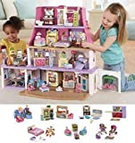 NEW!! Loving Family Dollhouse SUPER BONUS Set ***6 Rooms of Furniture + Everything For Baby Included*** (Caucasian Family)