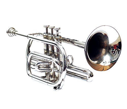 CORNET Bb PITCH NICKEL WITH HARD CASE AND MOUTHPIECE by Nasir Ali