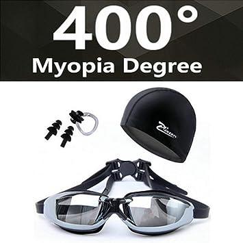 29f3853120 Biefess Miopía Gafas de natación HD miopes Gafas graduadas Gafas de Acetato  Lente de la galjanoplastia Gafas de natación para Adultos Piscinas Natación:  ...