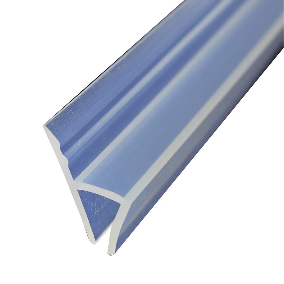 """Cozylkx H Shape Glass Door Seal Strip for 5/16 Inch Glass, Shower Door Pull-Push Door Window Gap Sweep Windproof, Length 118"""""""