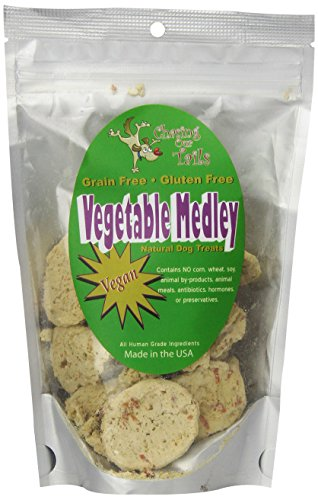 Chasing Our Tails Vegetable Medley Grain Free Vegan All Natural Dog Treats Handmade with 35% Fresh Local and Organic Vegetables