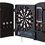 Fat Cat Mercury Electronic Dartboard, Built In Cabinet Doors With Integrated Scoreboard, Dart Storage For 6 Darts, Dual Display In Two Colors, Compact Target Face For Fast Play, 25/50 Bullseye Options, 43 Games And 320 Options