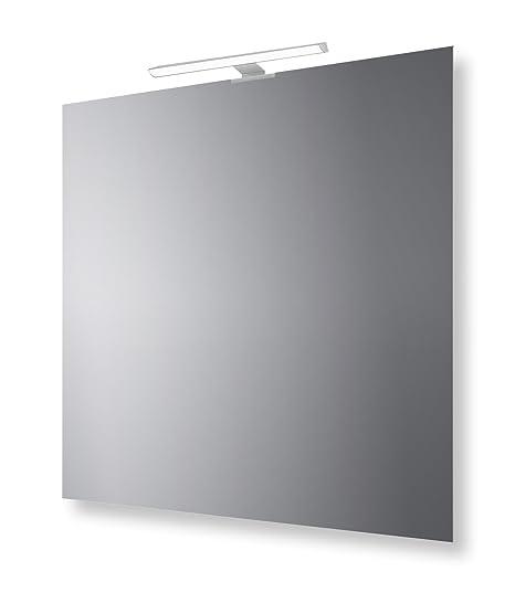 Specchio Bagno Con Lampada.San Marco Specchio Bagno Reversibile Con Lampada Led 70x70 Cm
