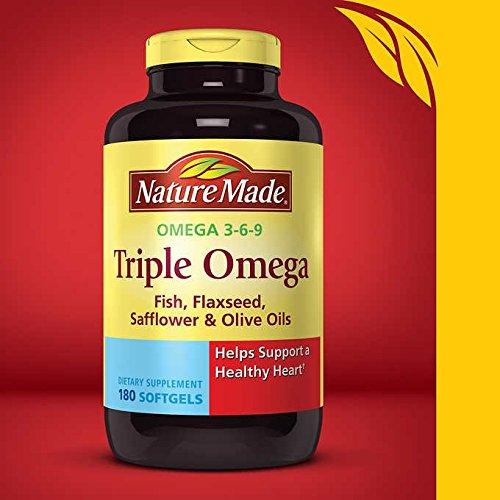 Nature Made Triple Omega 3-6-9 Softgels w. Fish, Flaxseed, S