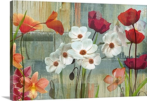 Maria Donovan Premium Outdoor Canvas Wall Art Print entitled Field of Flowers