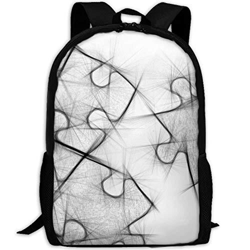 5cde789a002b Amazon.com   Puzzles Painting Art Print Custom Casual School Bag ...