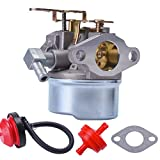 Neeknn New Tecumseh 640084B HSK40 HSK50 HS50 LH195SP Snowblower Carburetor with Primer Bulb & Fuel Line Filter