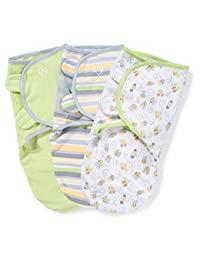 SwaddleMe Original Swaddle 3-PK, Busy Bees (SM) BOBEBE Online Baby Store From New York to Miami and Los Angeles