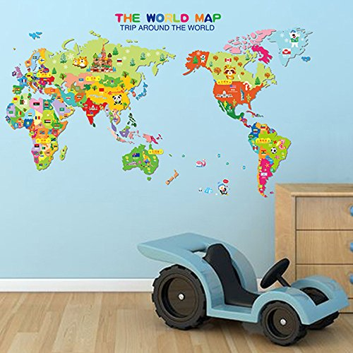 Room Decor - Kids World Wall Stickers - - National Maryland Harbor Map