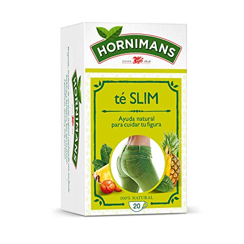 Hornimans Te Slim- Te Verde, Guarana y Pina - 20 Bolsitas