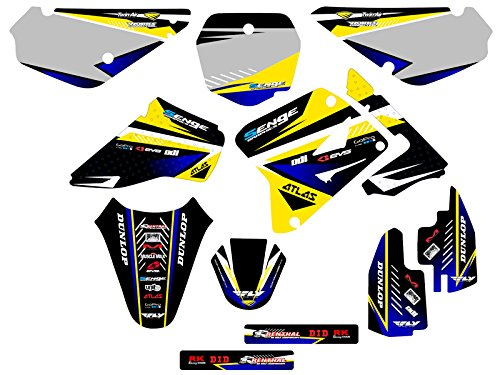 Senge Graphics Compatible with Suzuki 2001-2004 RM 85 Surge Black Base Graphics Kit