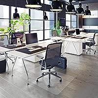 OfficeMarshal Protector Escritorio Transparente - Alfombra Oficina para Silla con Ruedas | Uso para Suelo Duro | PVC | Muchos tamaños (100x120 cm)