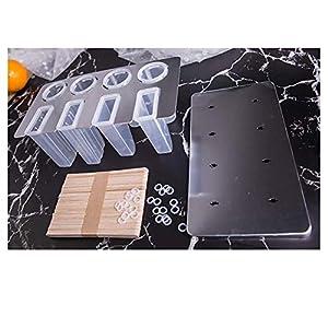 Dongbin Kit stampi Popsicle, stampi in Silicone Lecca-Lecca, con 25 guarnizioni in Silicone per riutilizzabili… 1 spesavip