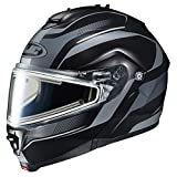 HJC IS-MAX2SN Style Modular Snow Helmet Frameless Electric Shield (MC-5F Black/Silver, XX-Large)