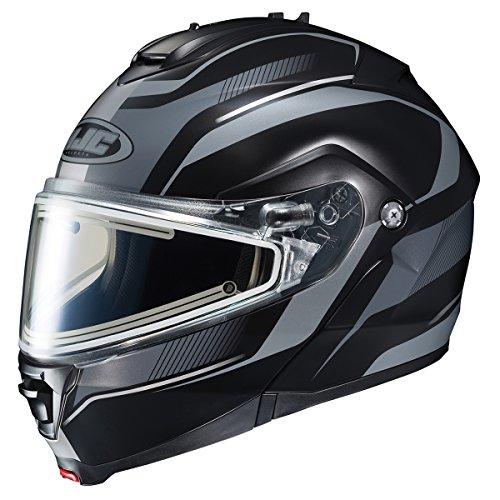 HJC IS-MAX2SN Style Modular Snow Helmet Frameless Electric Shield (MC-5F Black/Silver, Large) ()